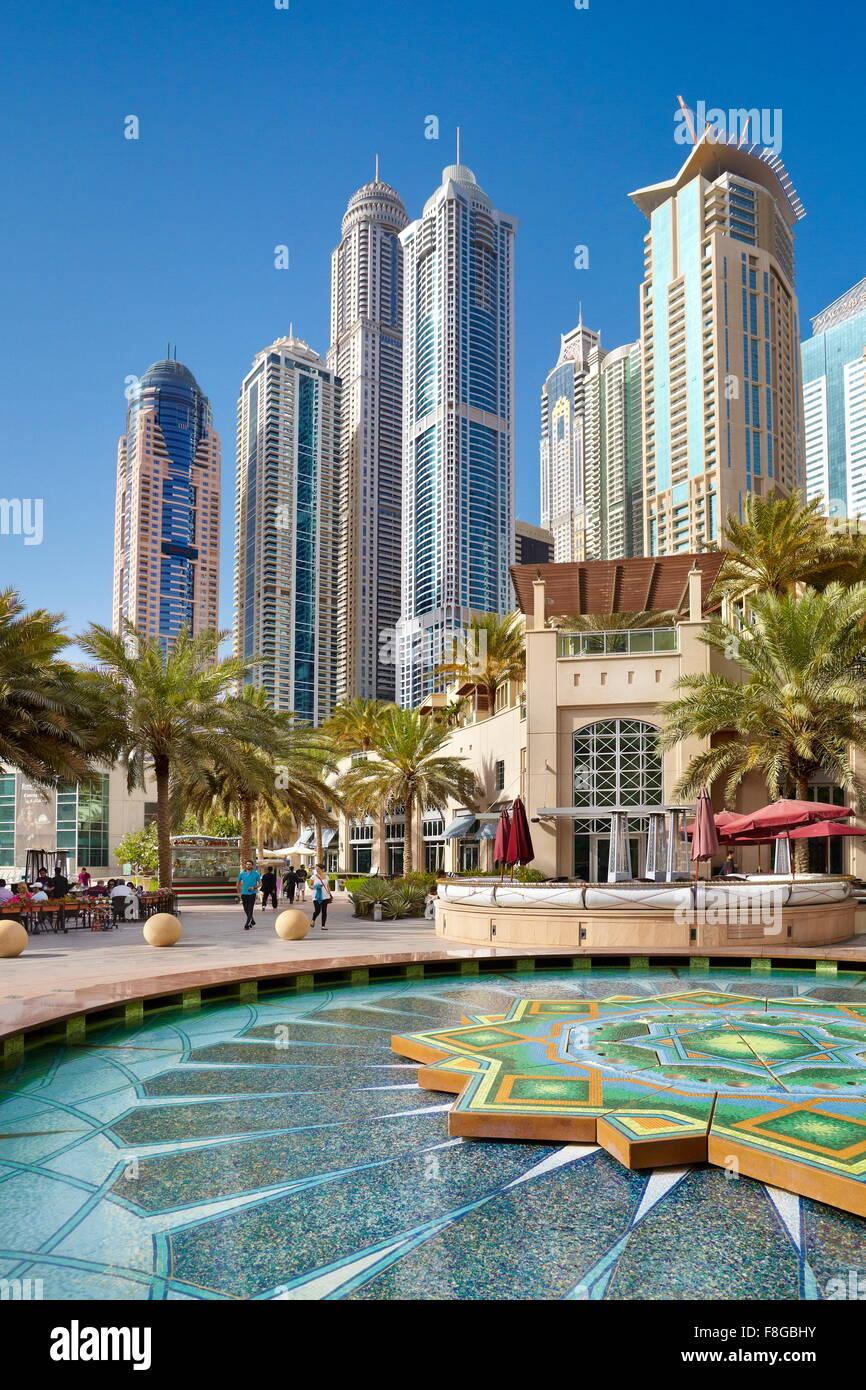 Dubai cityscape - Marina, United Arab Emirates - Stock Image