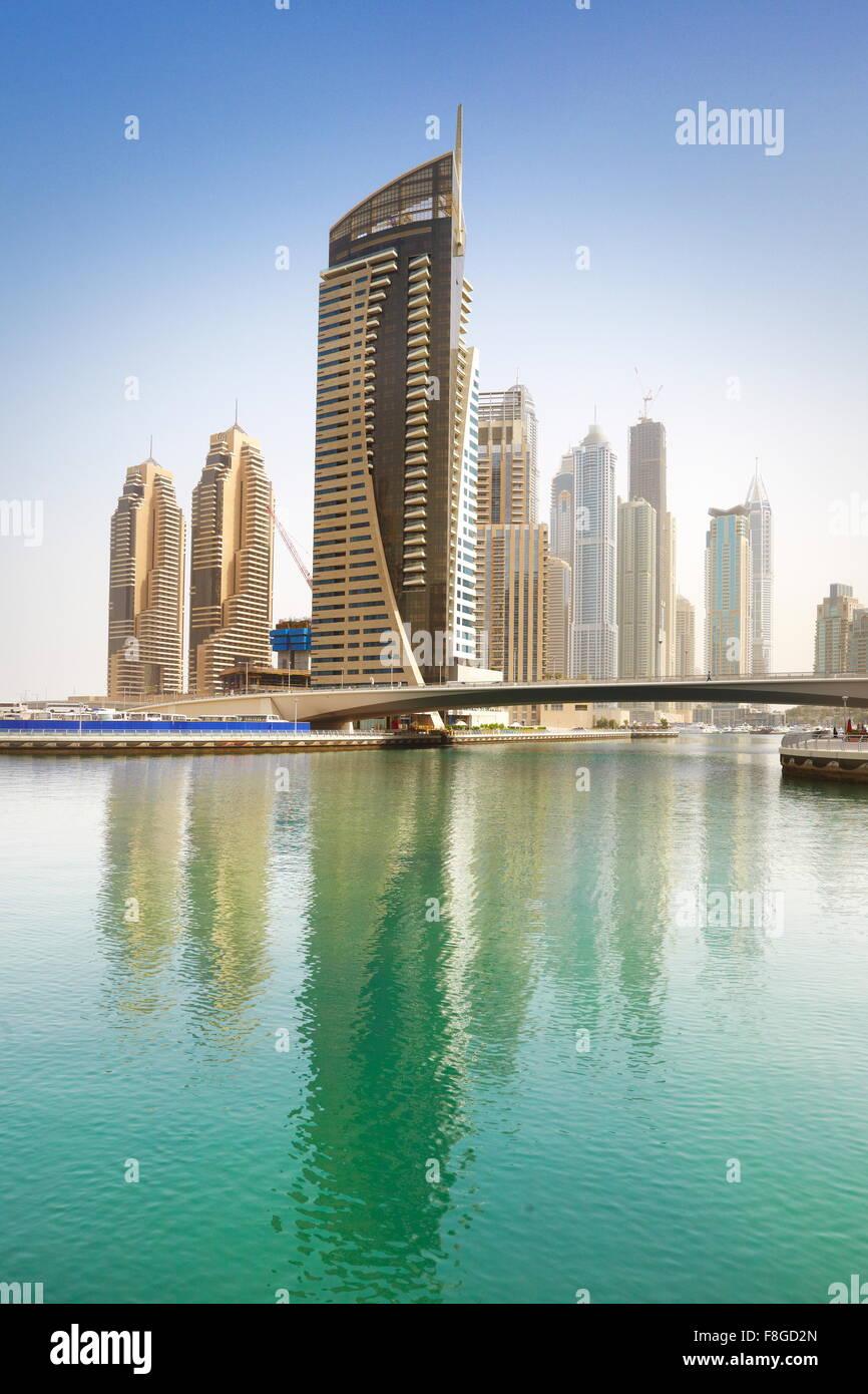 Dubai city - Marina, United Arab Emirates - Stock Image