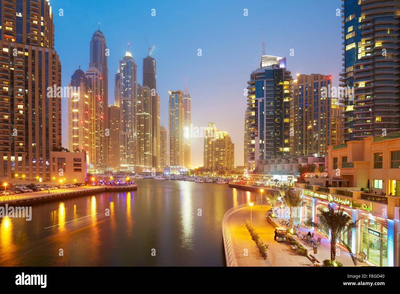 Dubai skyline - Marina, United Arab Emirates - Stock Image