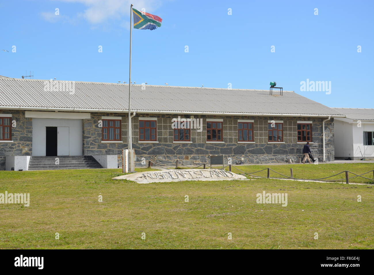 Central building at the Robben Island prison off Cape Town South Africa - Stock Image