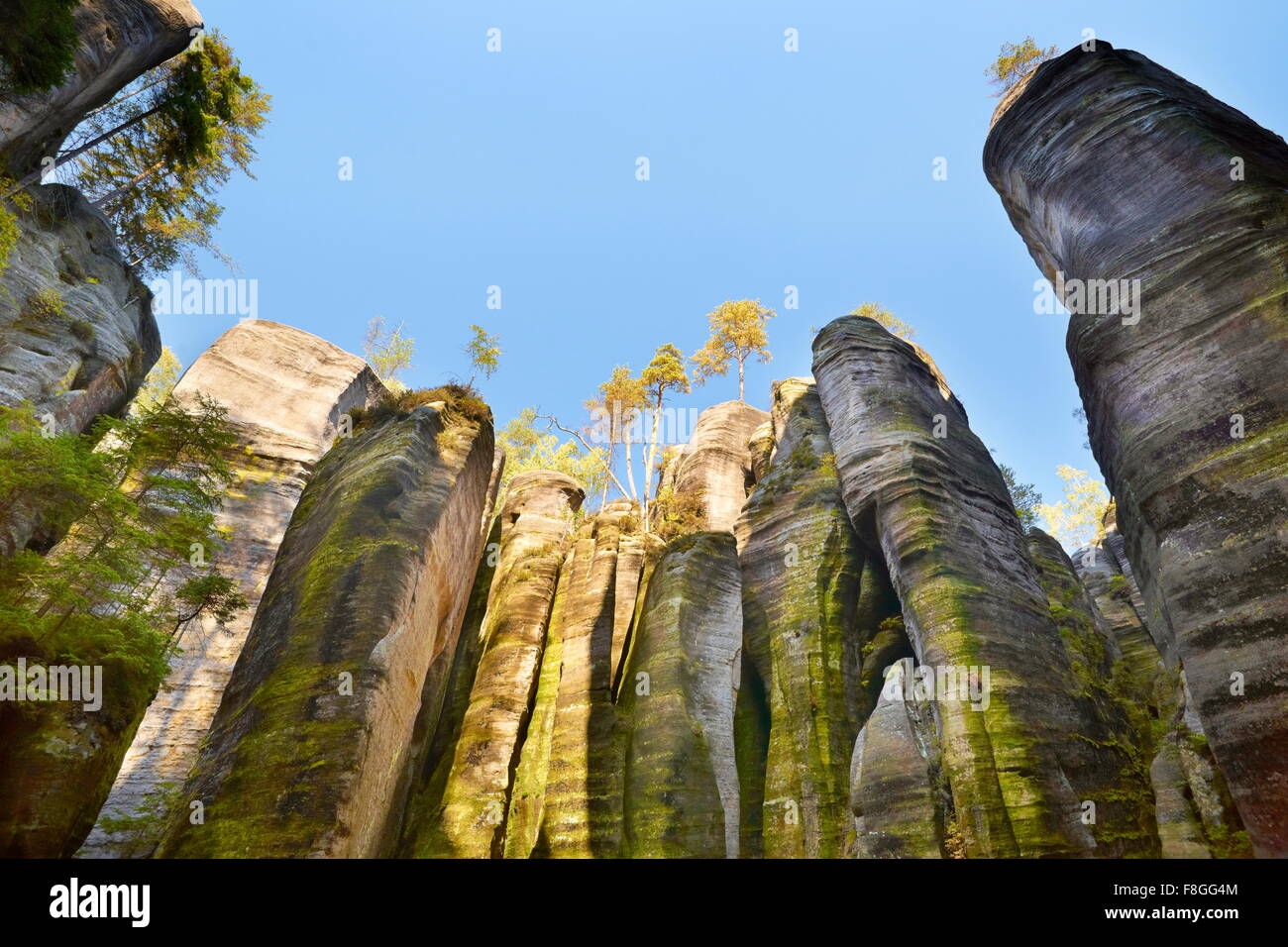 Adrspach Rock Town, Teplicke Rocks, Czech Republic - Stock Image