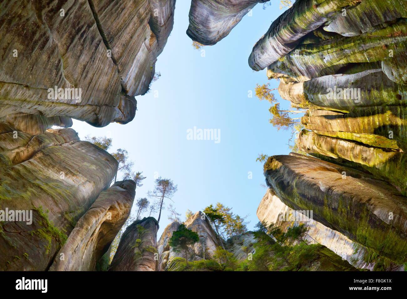 Adrspach Rock, Teplicke Rocks, Czech Republic - Stock Image