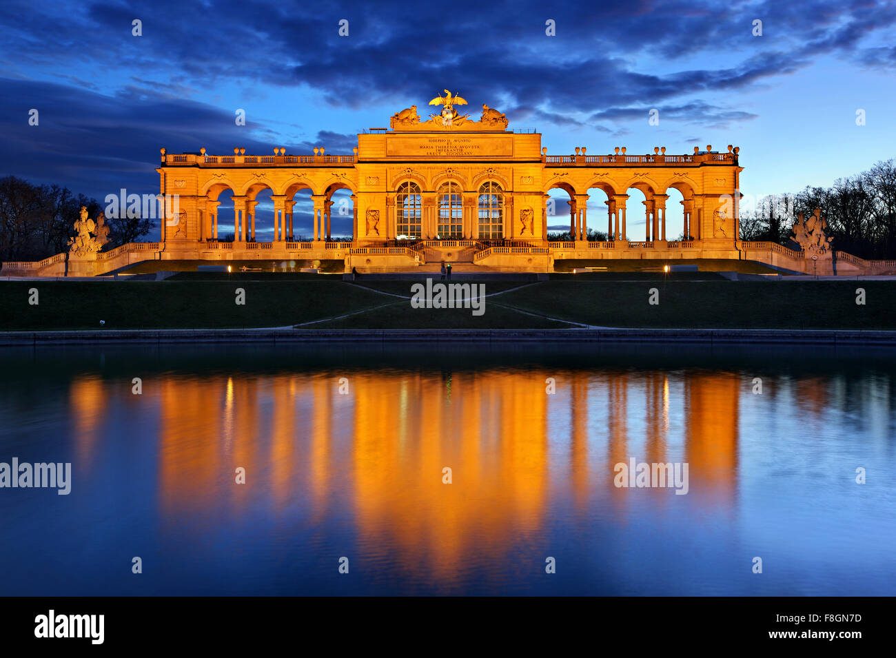 The Gloriette, the 'belvedere' of Schönbrunn palace, Vienna, Austria. - Stock Image