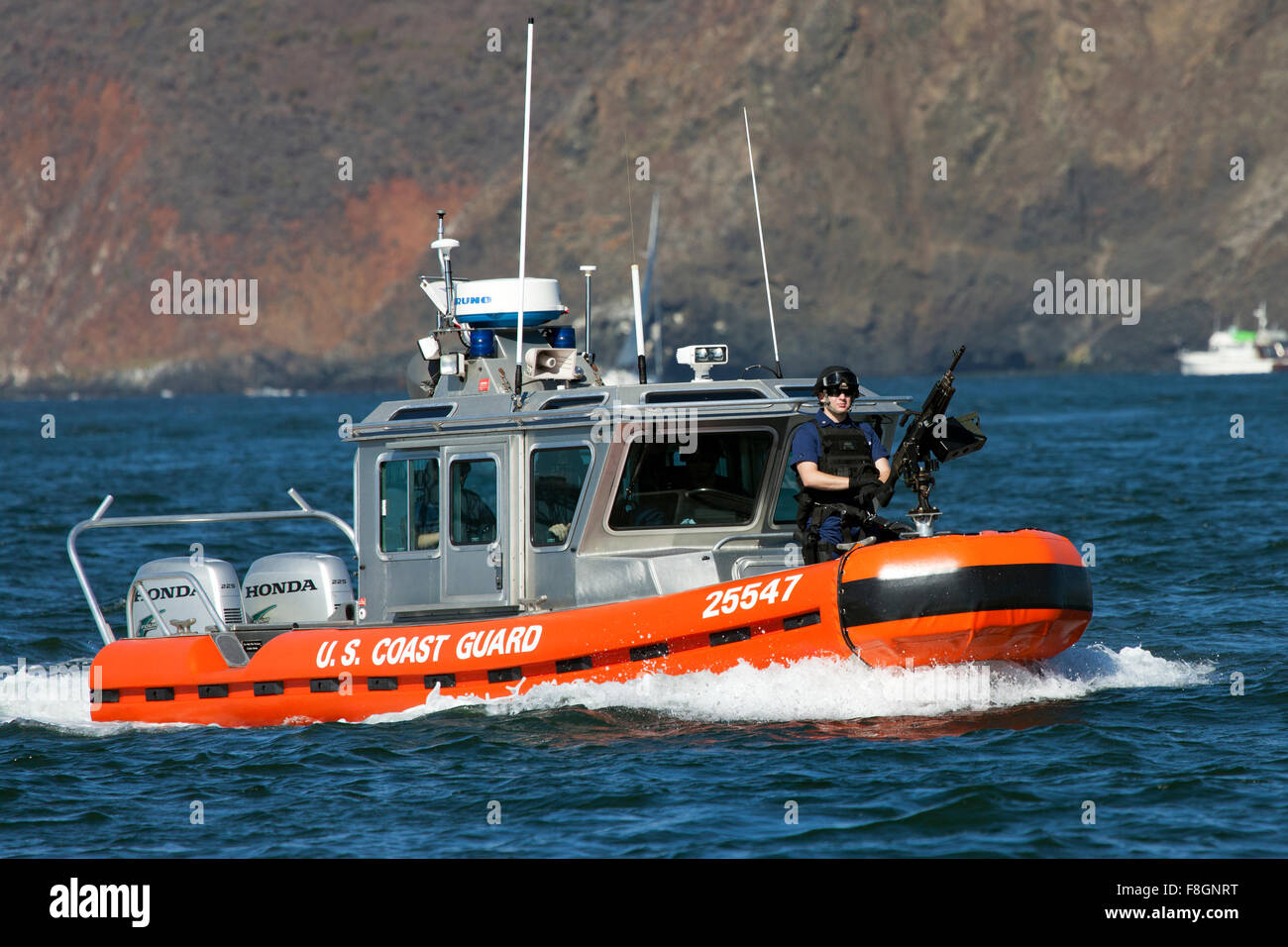 Defender Class Response Boat (RB-S). The RB-S was designed as a homeland security and law enforcement platform to - Stock Image