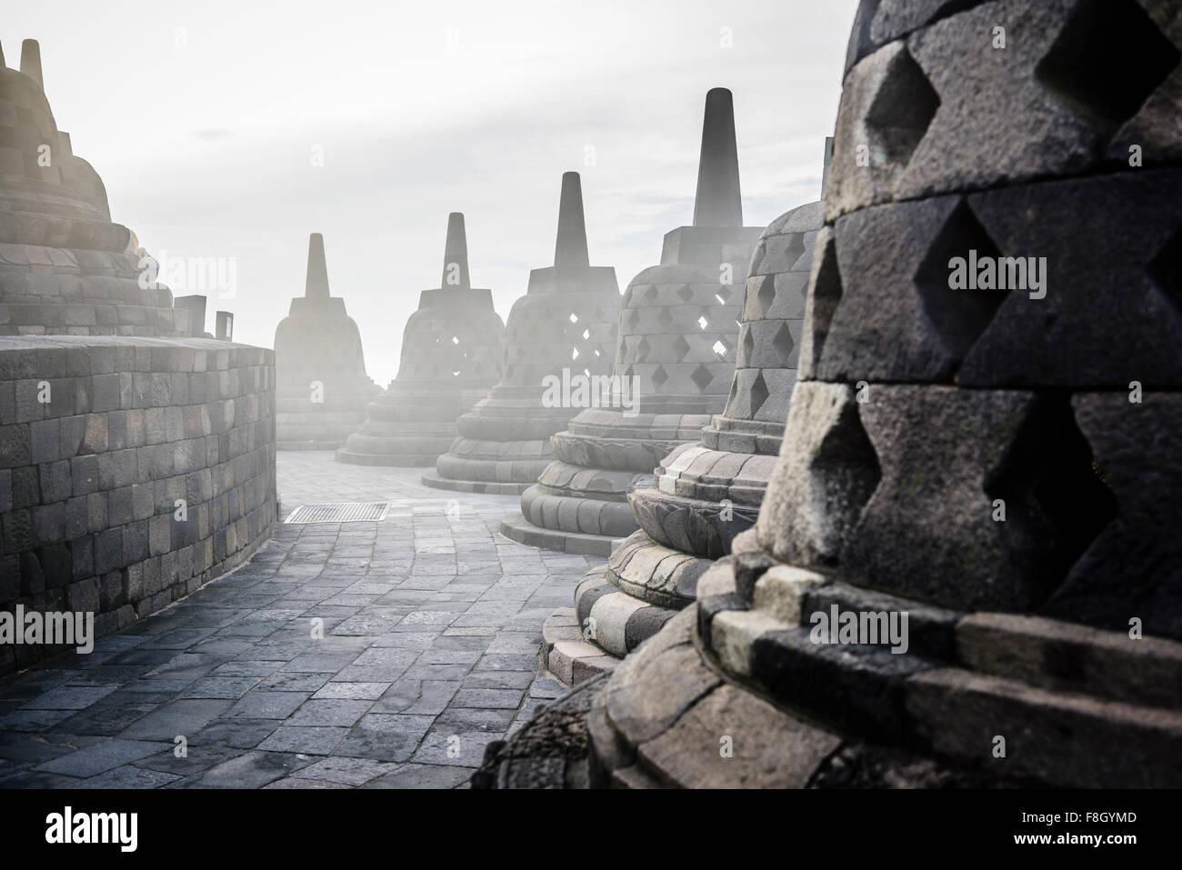 Monuments in Borobudur, Jawa Tengah, Indonesia - Stock Image