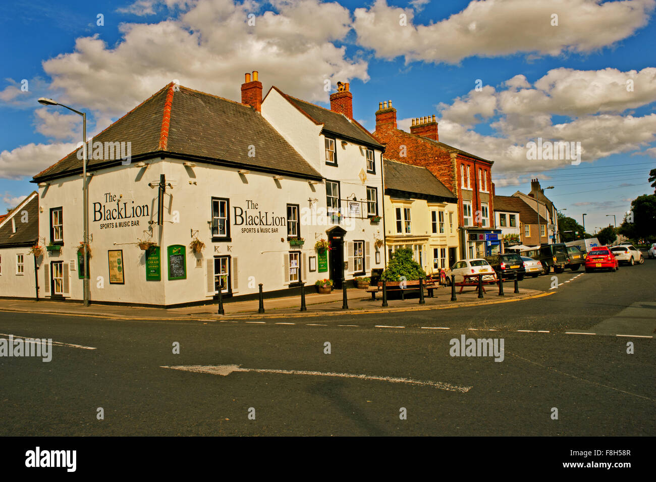 The Black Lion at Sedgefield - Stock Image