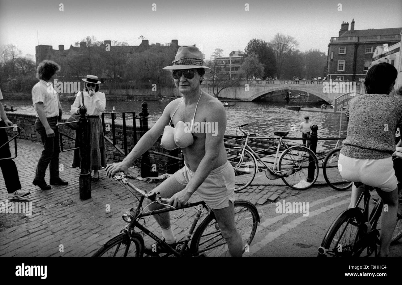 Cambridge, England, UK. Rag week in Cambridge. 1988 - Stock Image