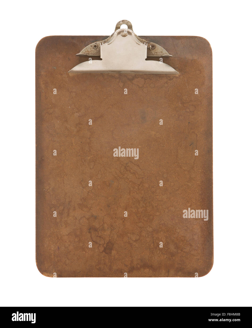 Old Retro Clipboard on a White Background - Stock Image