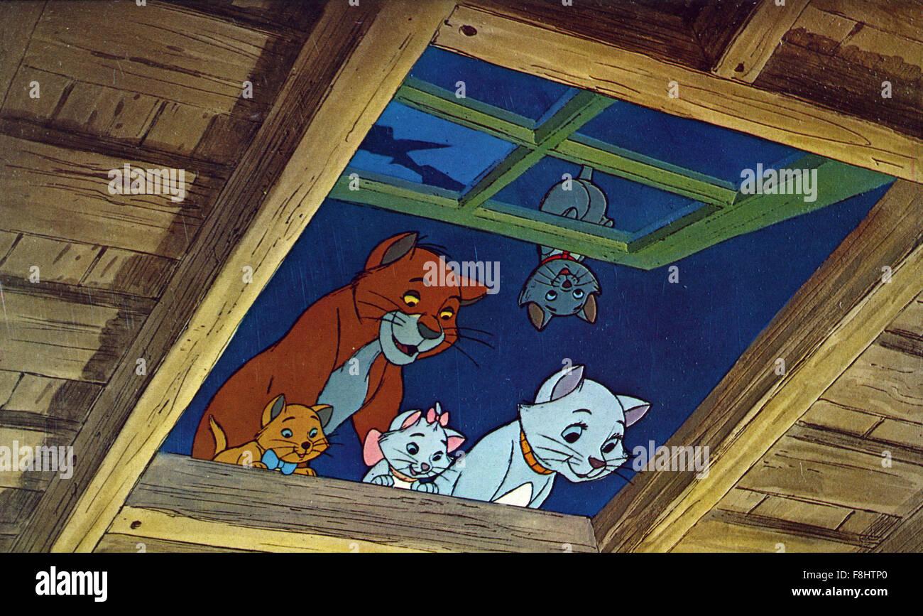 The Aristocats - Walt Disney Productions - 1970 - Director Wolfgang Reitherman - Stock Image