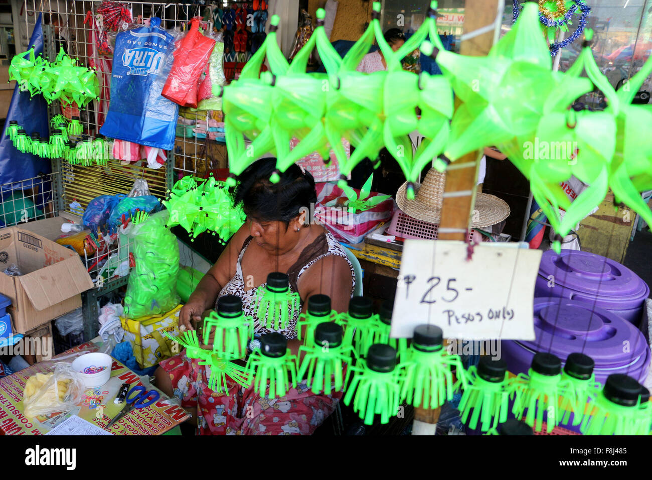 philippines 10th dec 2015 a vendor for sale her hand made christmas lantern