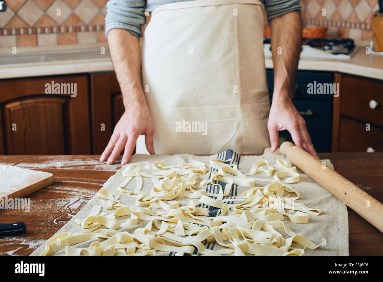 Making pasta - Stock Image