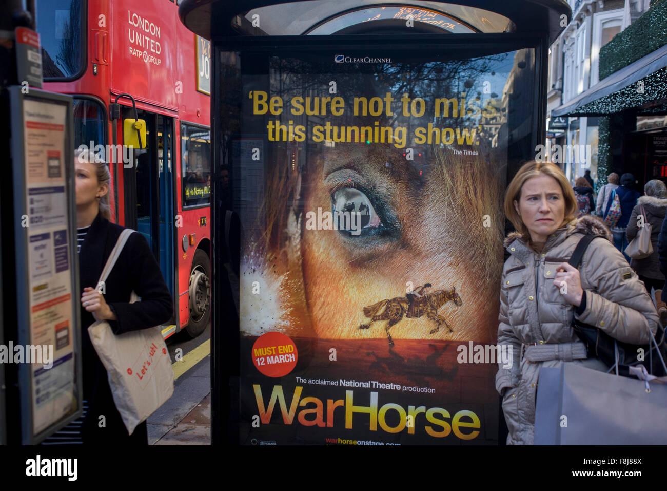London Bus Stop Advertising Stock Photos & London Bus Stop ...