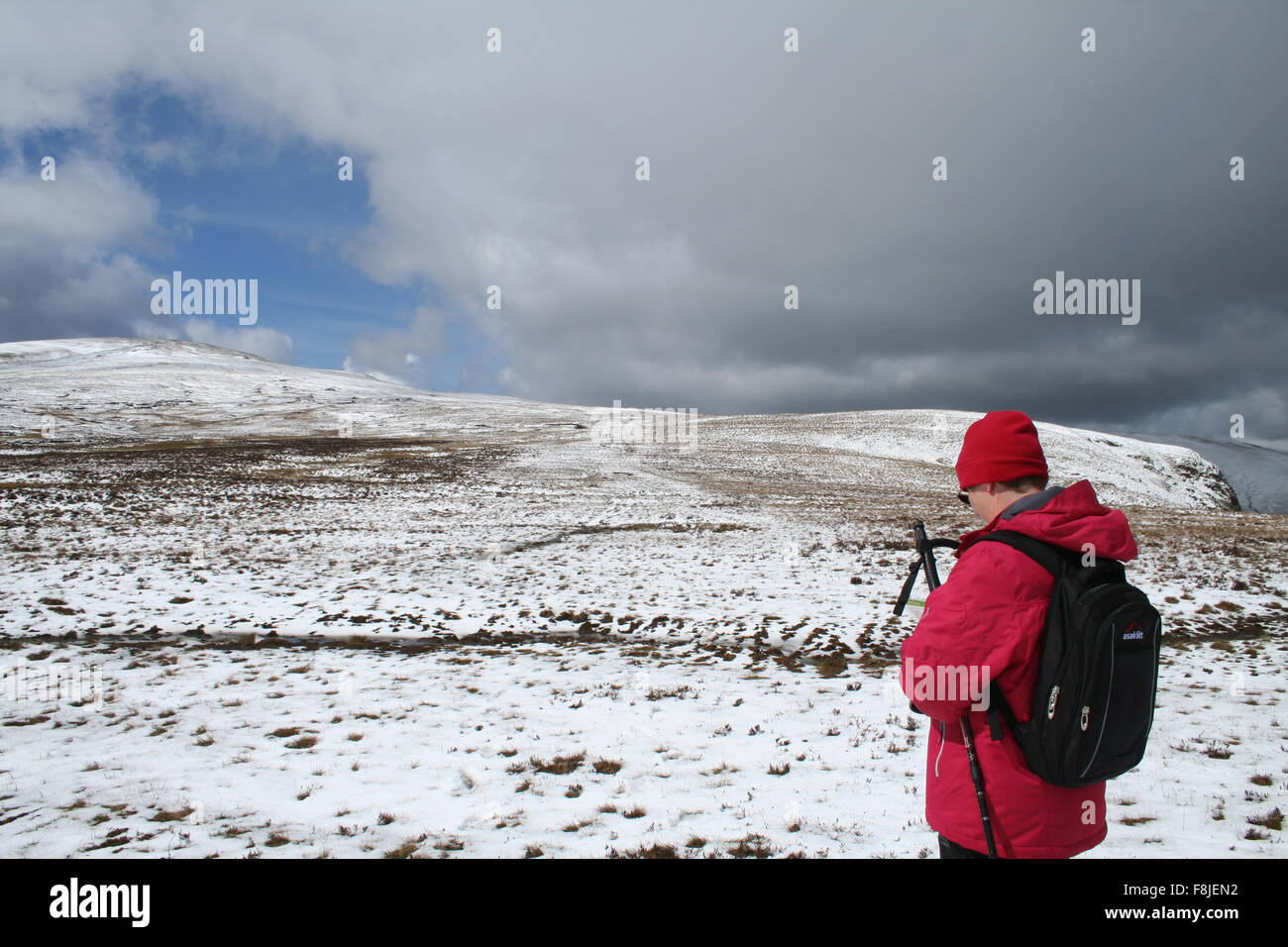 Winter on Great Dodd in the English Lake District - Stock Image