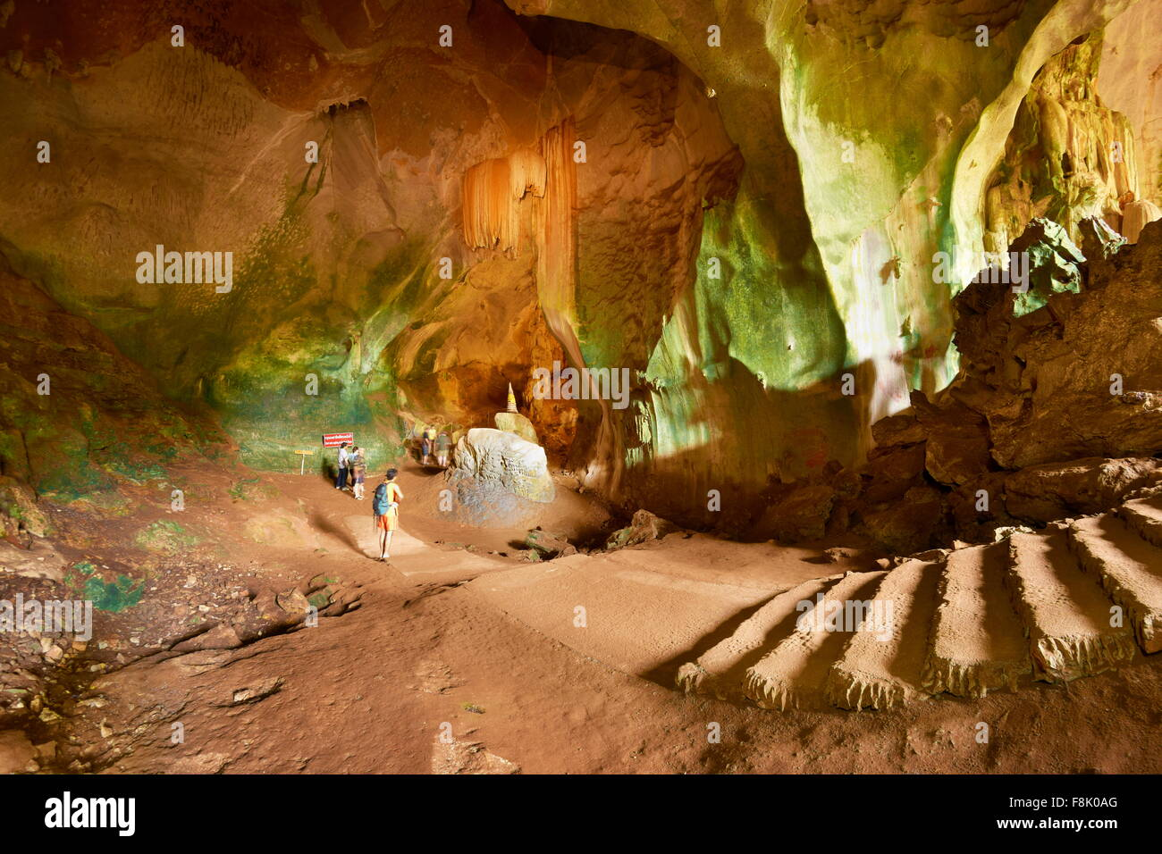 Thailand - Phang Nga Province, Wat Suwan Kuha Cave Temple - Stock Image