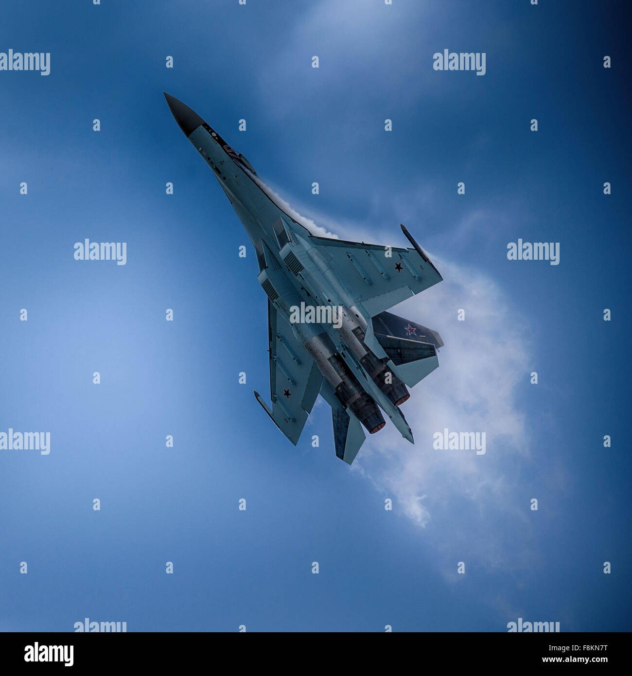 Russian Su-35 Flanker fighter - Stock Image