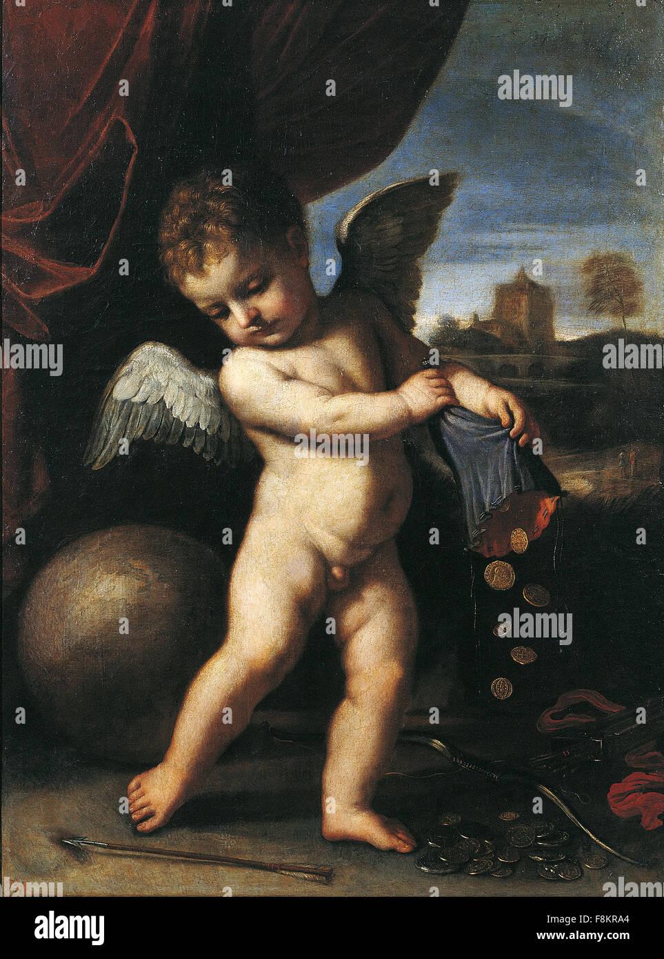Giovanni Francesco Barbieri - Guercino - El Amor Desinteresado - Stock Image