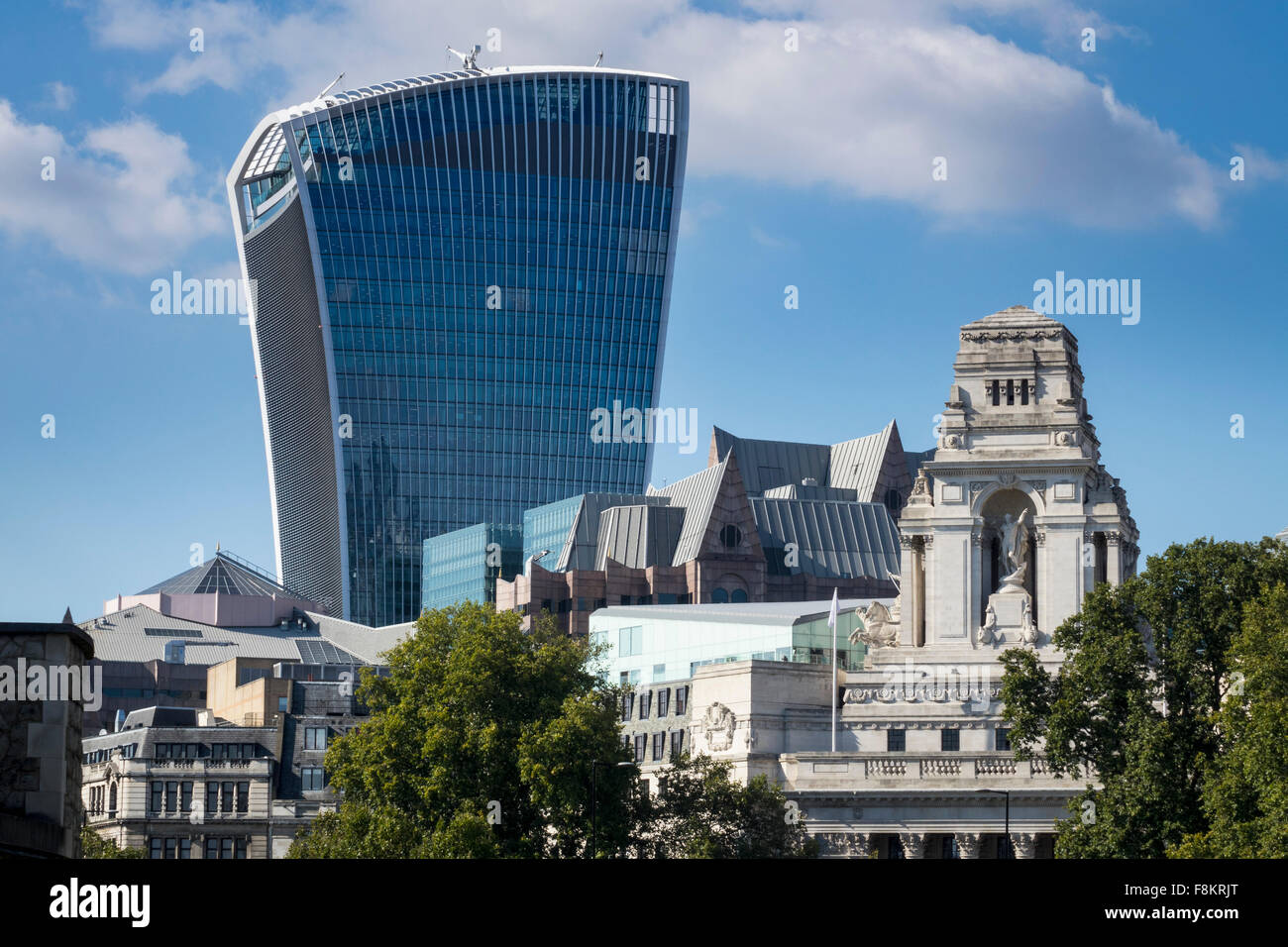 Walkie Talkie building, London, England, UK - Stock Image