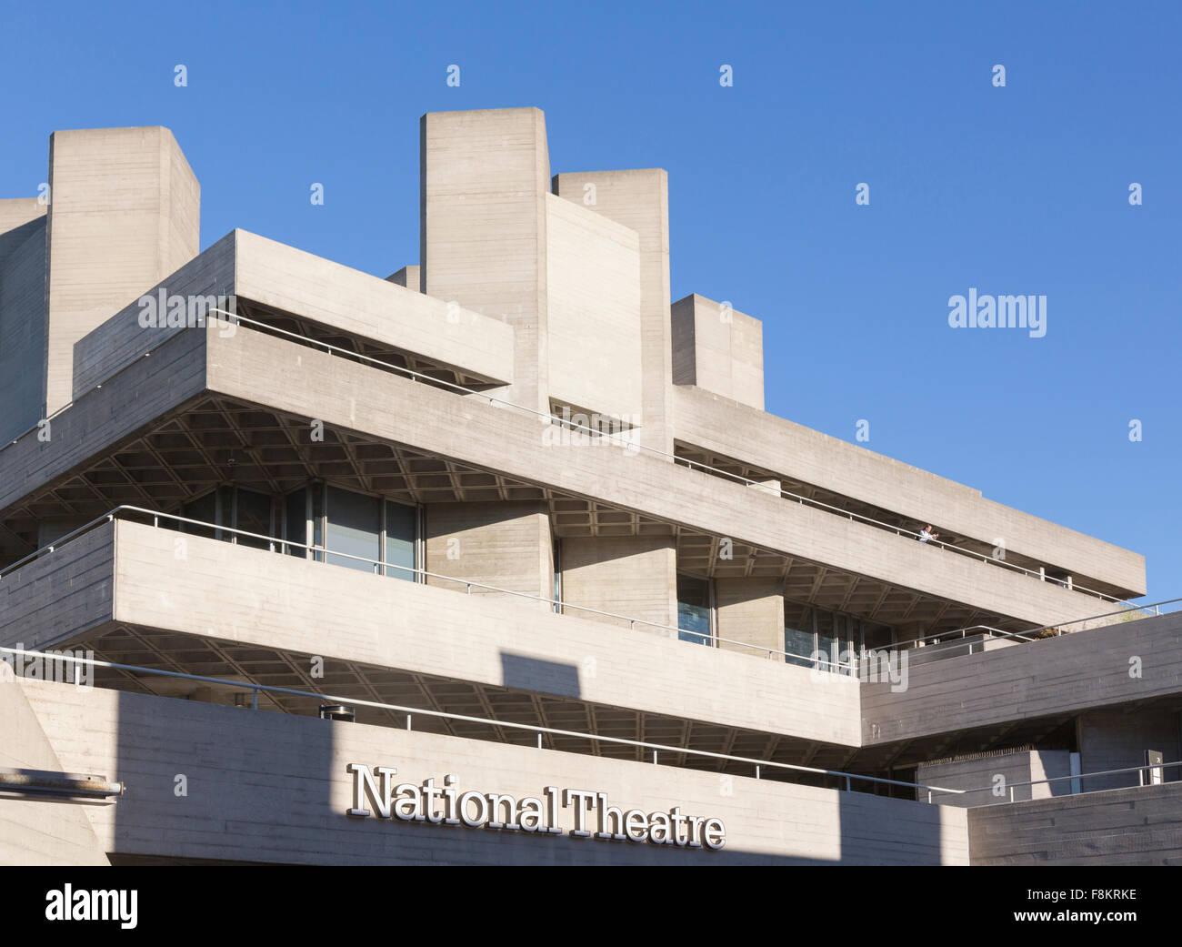 National Theatre, South Bank, London, England, UK - Stock Image