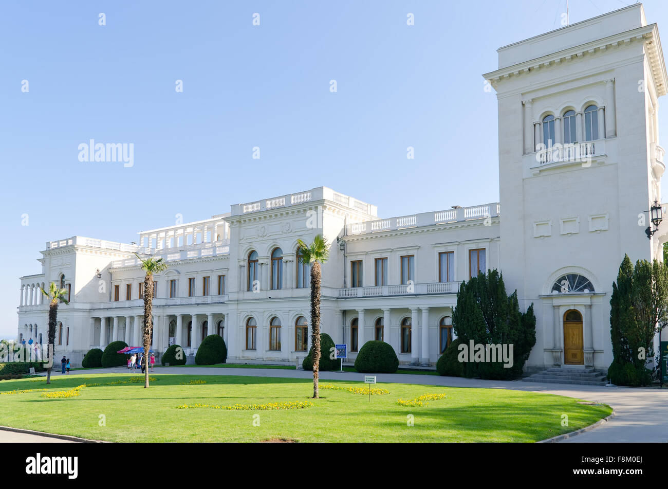 Livadia palace, Crimea, Ukraine. Location of the historic Yalta Conference at the end of World War II. - Stock Image