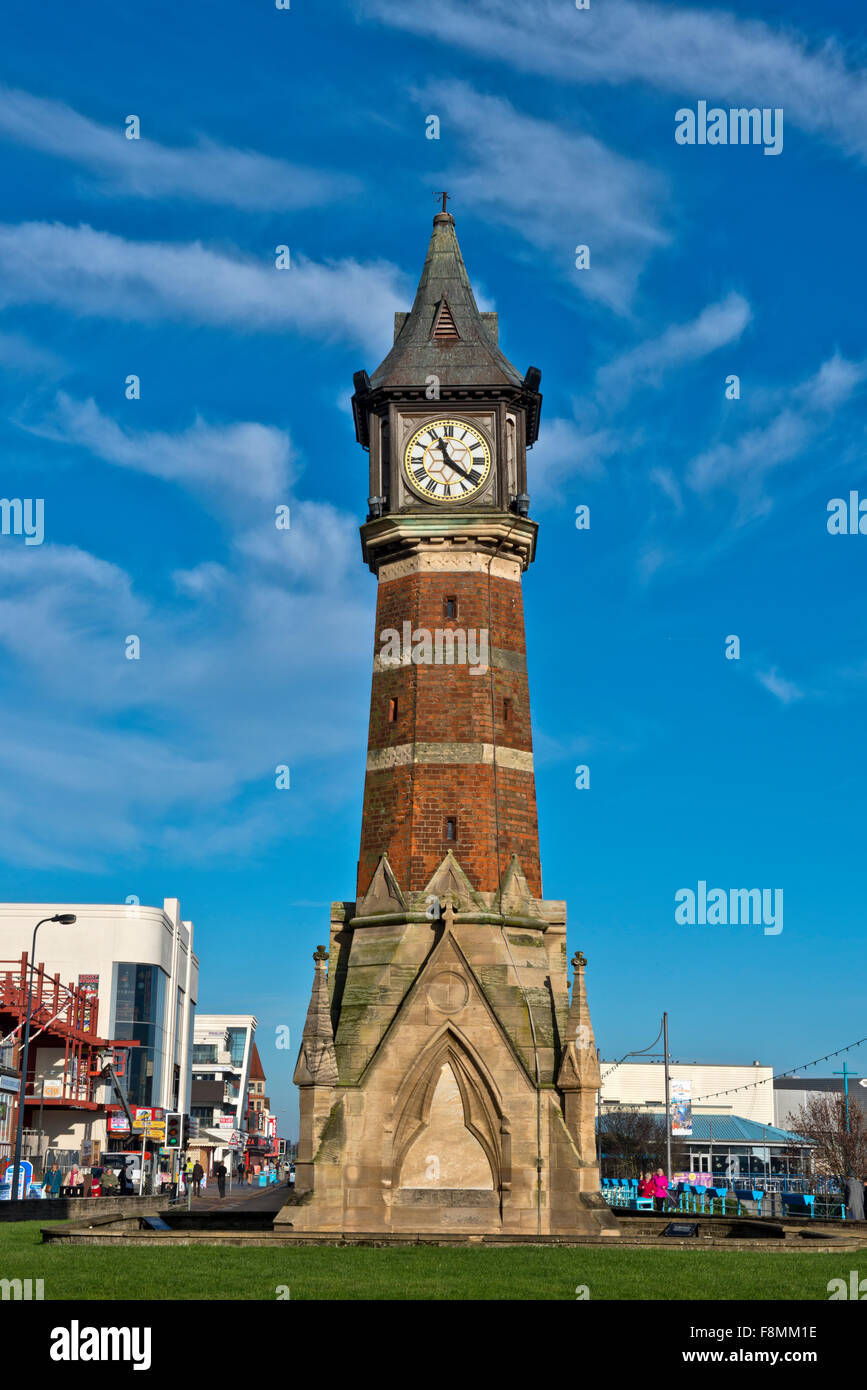 The Diamond Jubilee Clock Tower, Skegness was built in 1898-99 to mark the Diamond Jubilee of Queen Victoria in - Stock Image