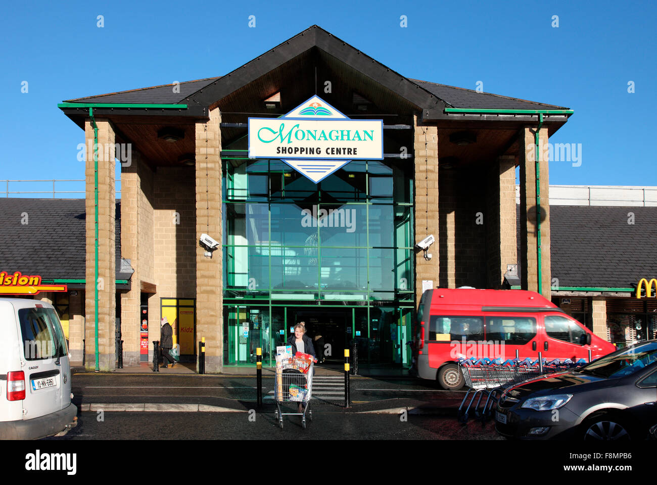 Monaghan Shopping Centre, Ireland - Stock Image