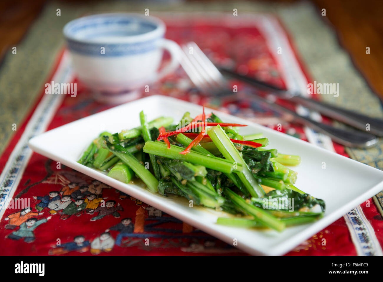 Singapore cuisine served in a restaurant - Stock Image