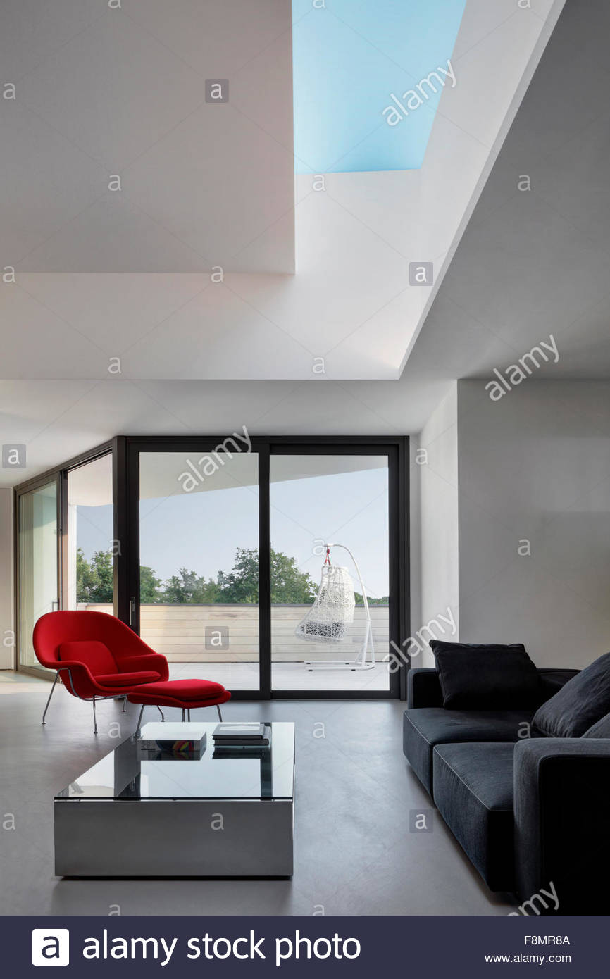 Apartment Nervi Interior View Of A Living Room In A Modern Stock
