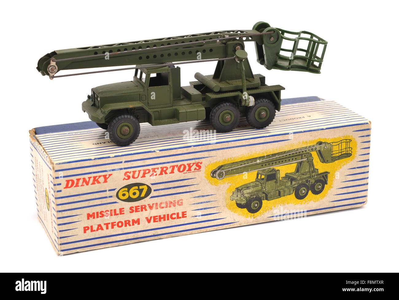 Dinky Supertoys 667 Missile Servicing Platform Vehicle children's toy - Stock Image