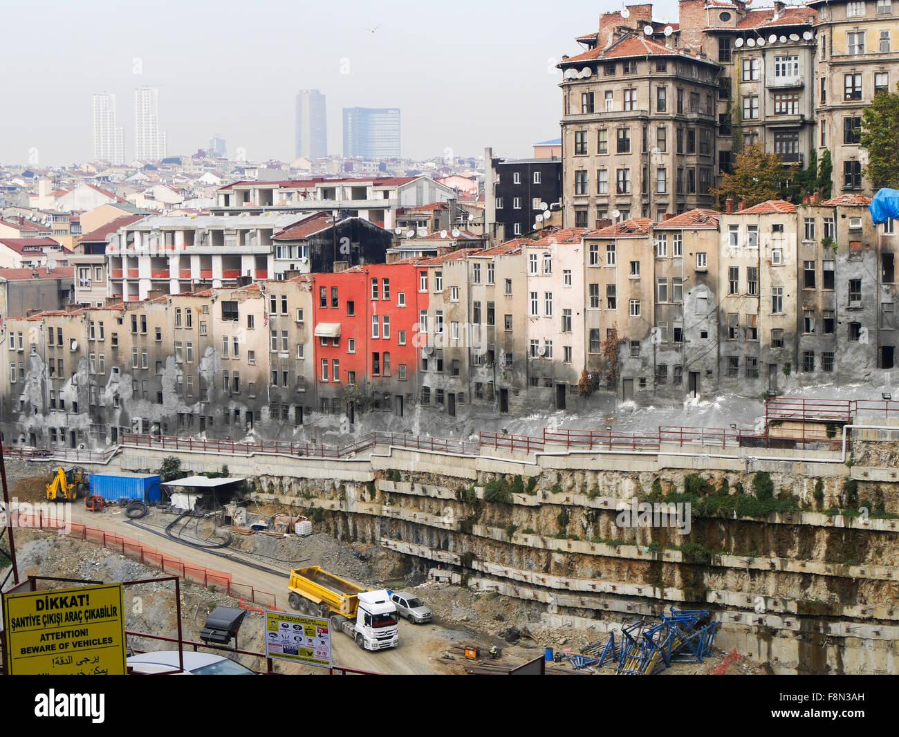 New development in Taksim area in Istanbul Turkey Stock Photo