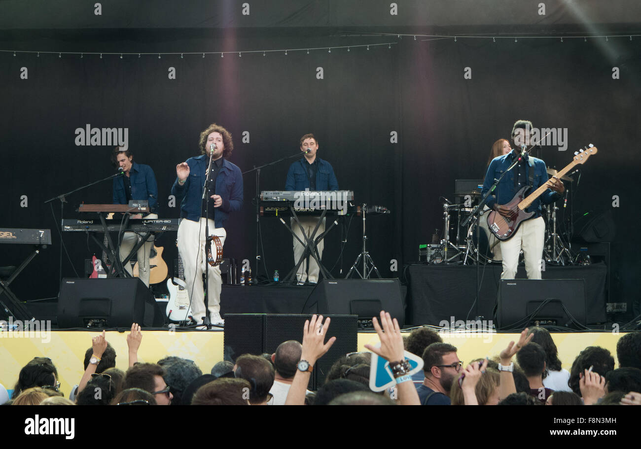 Metronomy live on stage Stock Photo