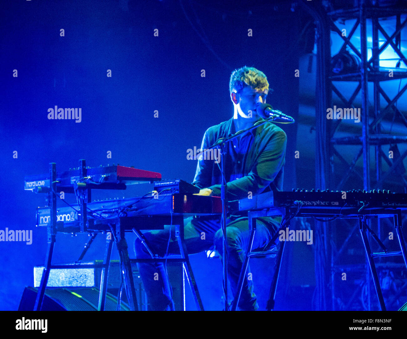 James Blake playing live Stock Photo