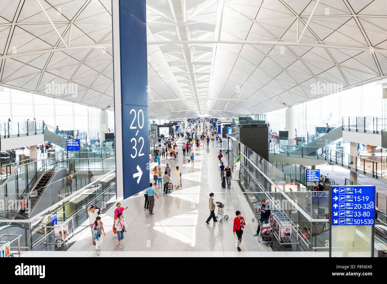 Hong Kong Chek Lap Kok International Airport, Hong Kong, China. Stock Photo