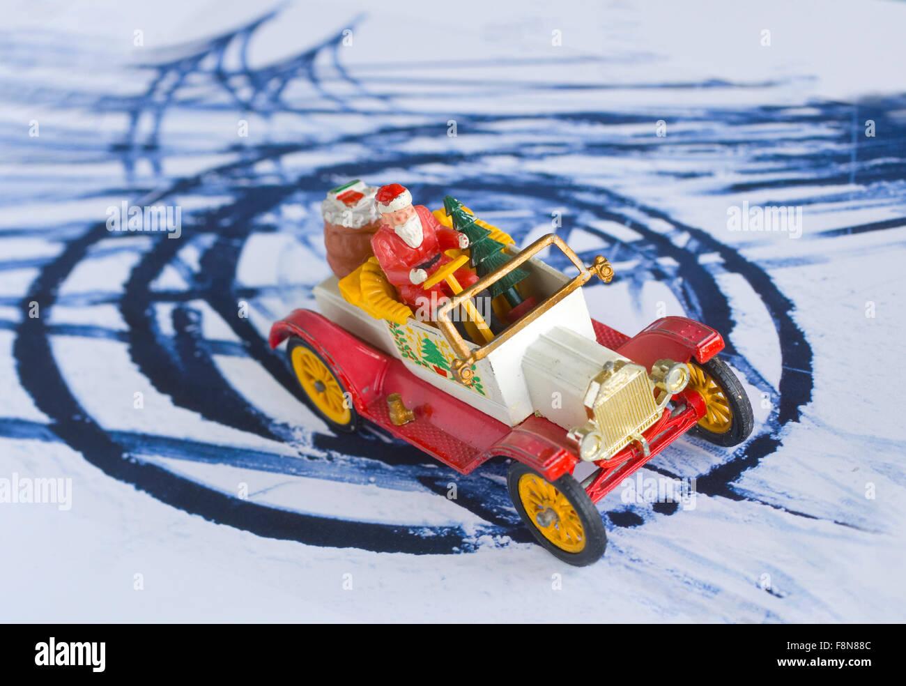 Christmas Card, Joke, 'Corny cards' - Stock Image