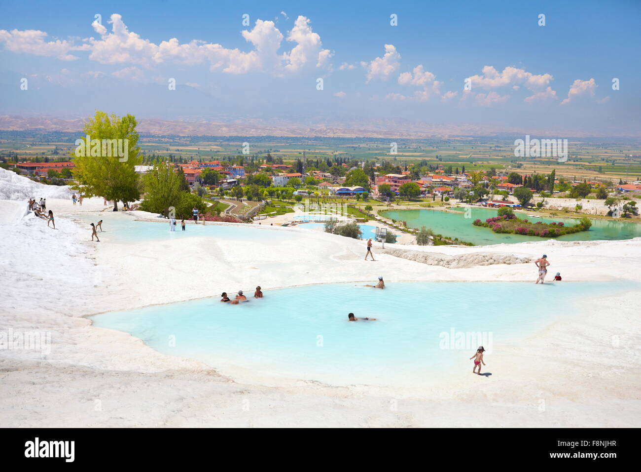 Pamukkale, limestone terraces, Turkey - Stock Image