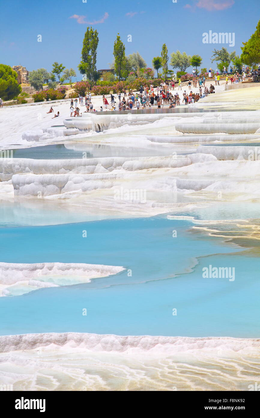 Pamukkale, limestone terraces, Turkey, UNESCO - Stock Image