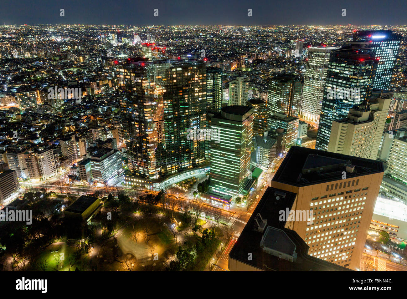 A panoramic city scape of Tokyo, Japan - Stock Image
