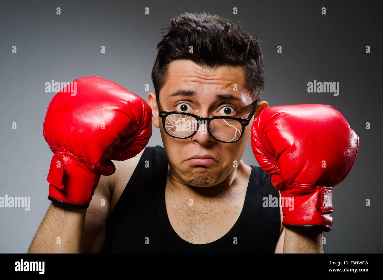 Boxing Glove And Face And Punch Stock Photos & Boxing Glove And Face
