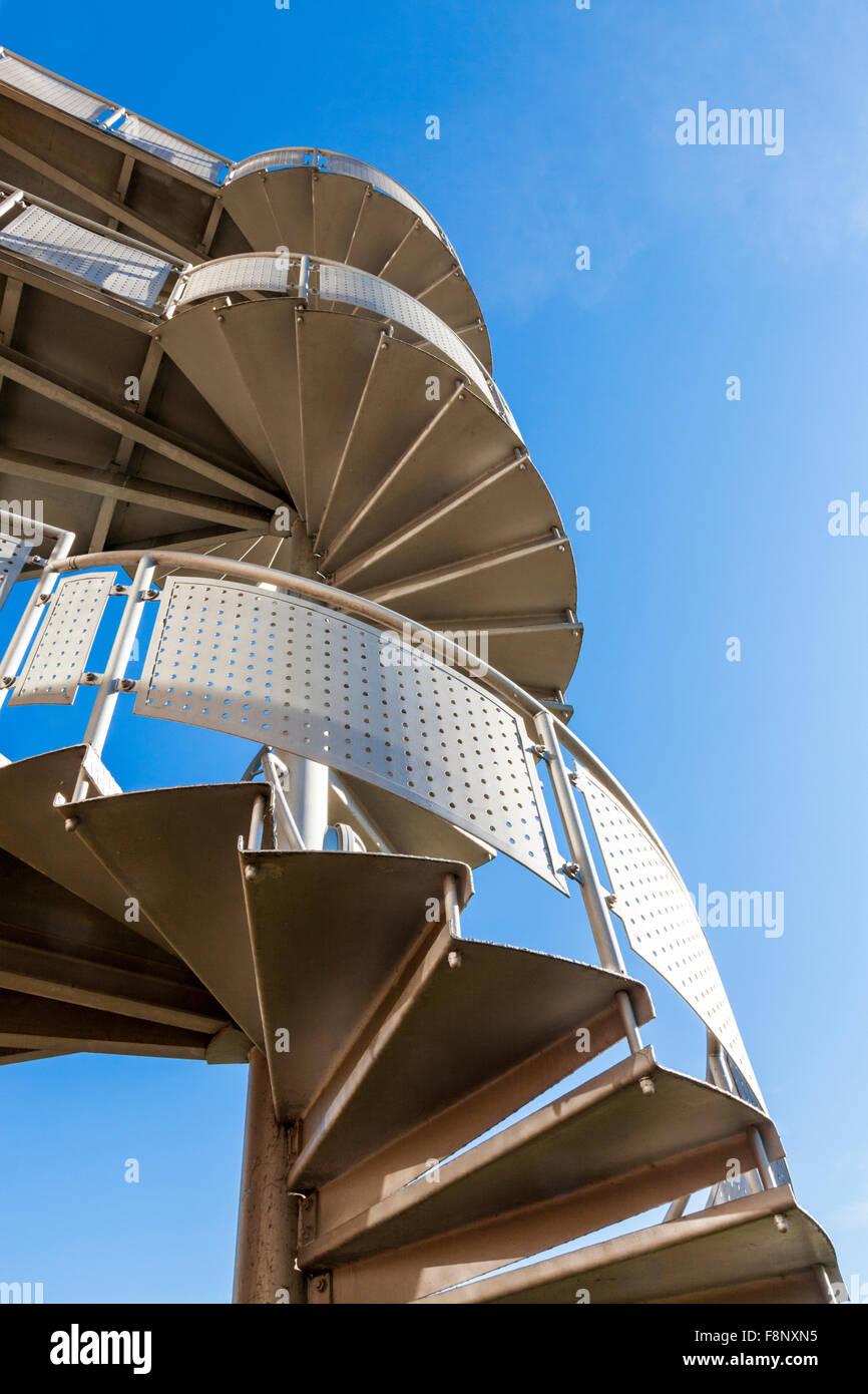 Exterior Metal Stairs Stock Photos & Exterior Metal Stairs Stock ...