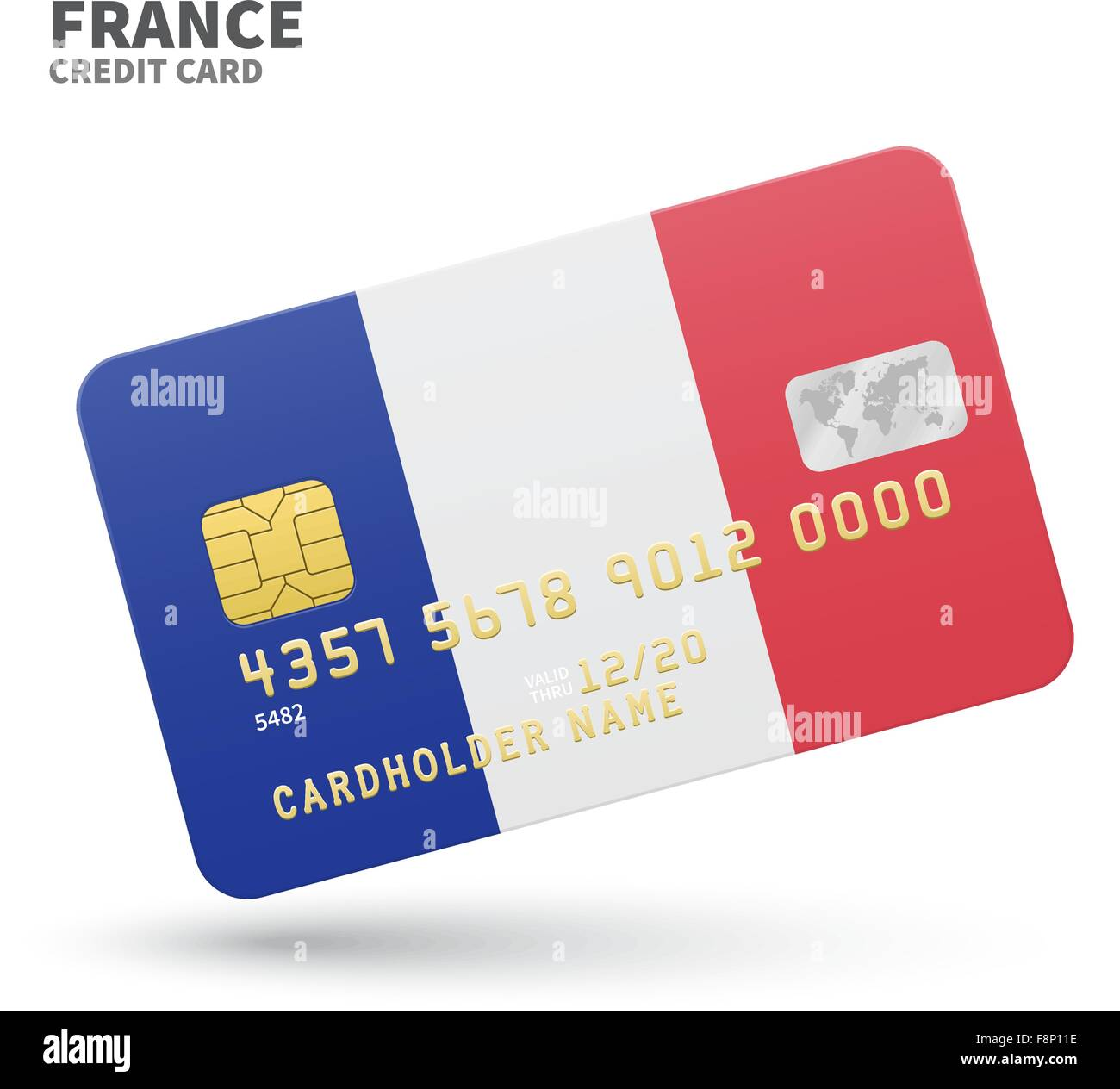 Credit Card With France Flag Background For Bank Presentations And