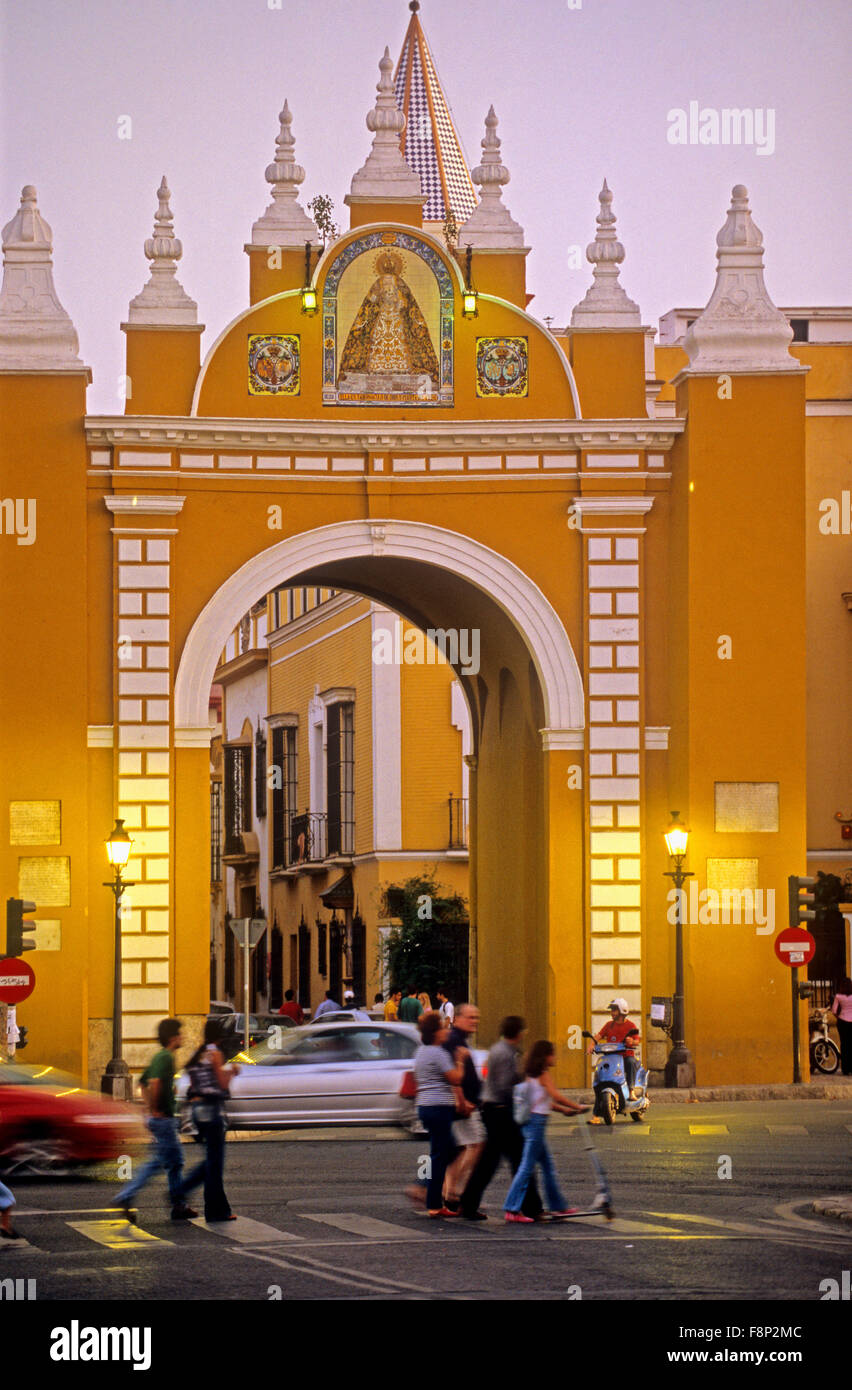 Gateway of la Macarena. Seville, Andalusia, Spain. - Stock Image