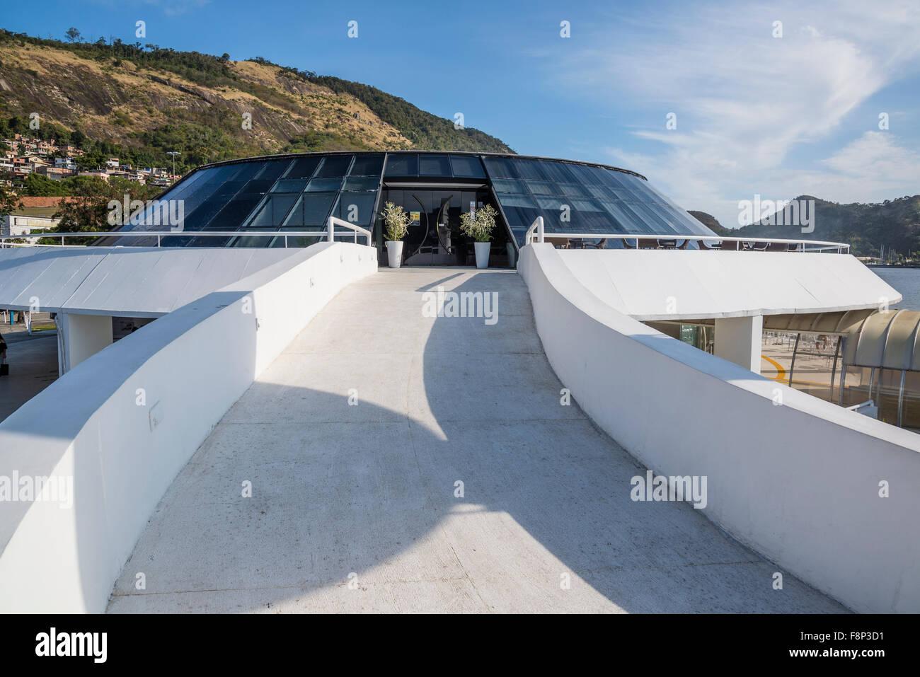 Waterways of Charitas station, Niteroi, Rio de Janeiro, Brazil - Stock Image
