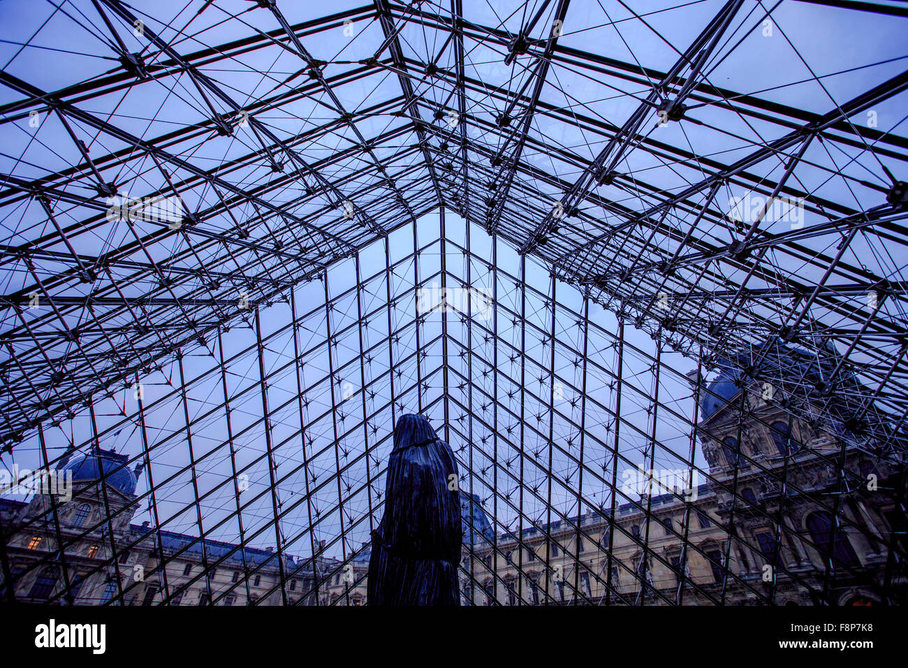 Inside Glass Pyramid Exit Louvre Stock Photos & Inside Glass Pyramid ...