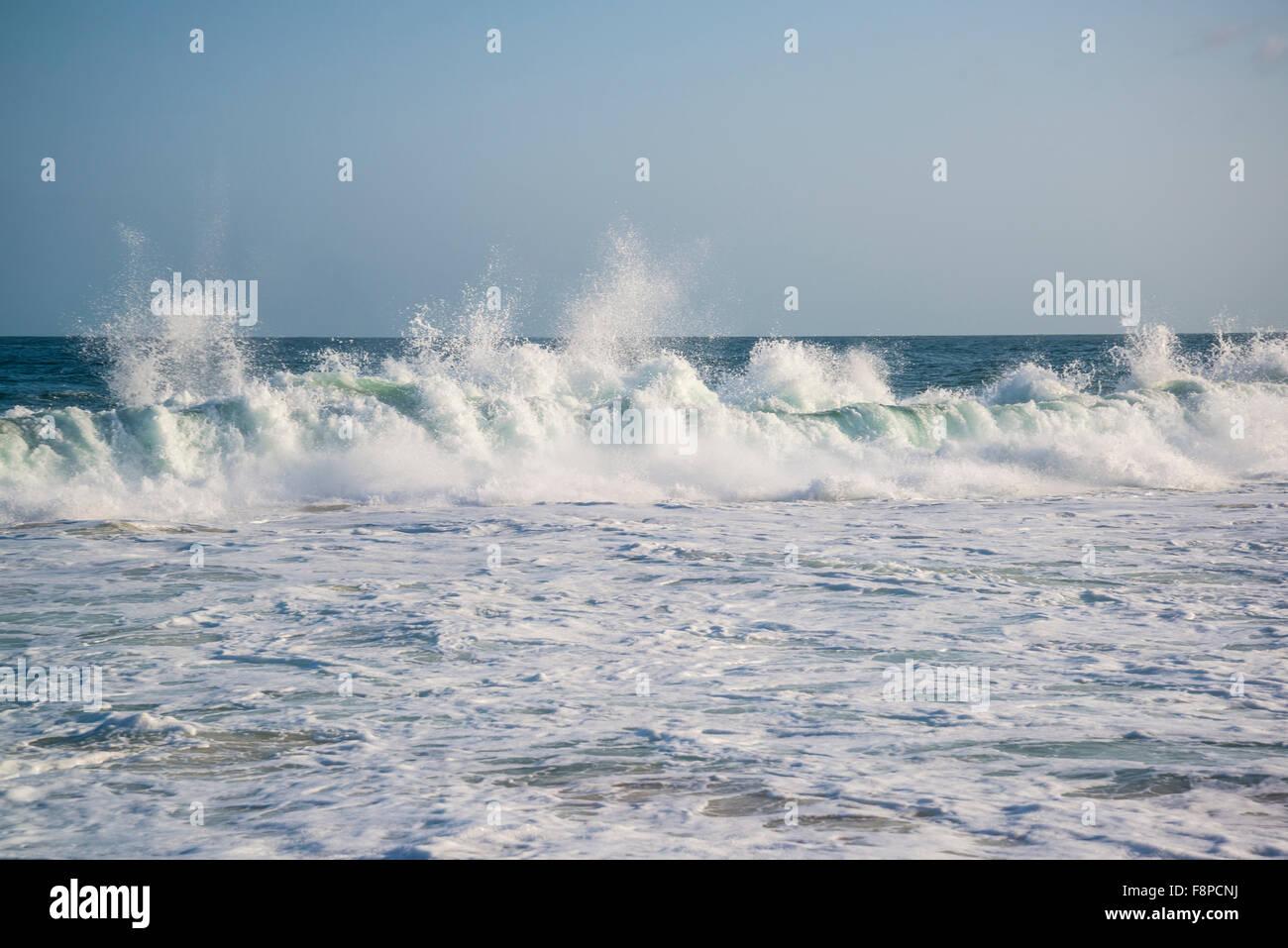 Atlantic ocean, Waves, Rio de Janeiro, Brazil - Stock Image