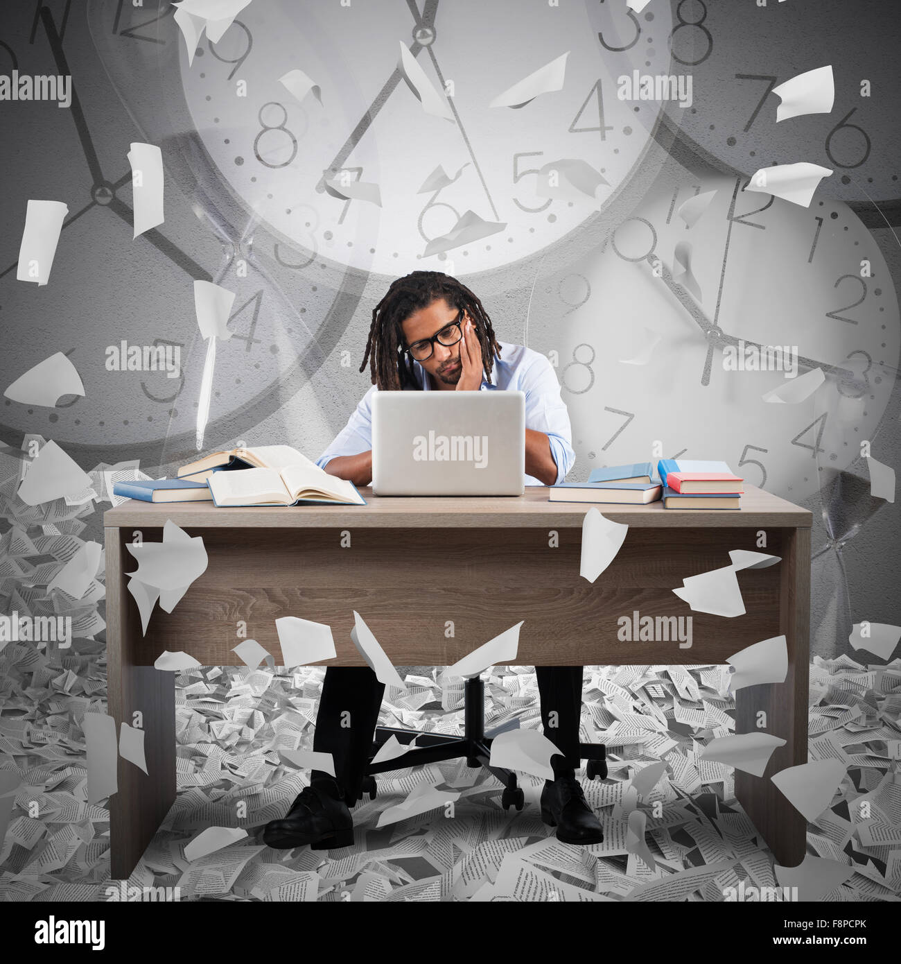 Overworked and overtime - Stock Image