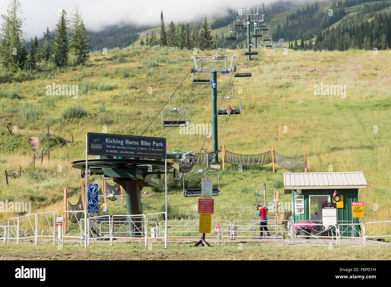 Kicking Horse Resort, near Golden, British Columbia, Canada - Stock Image