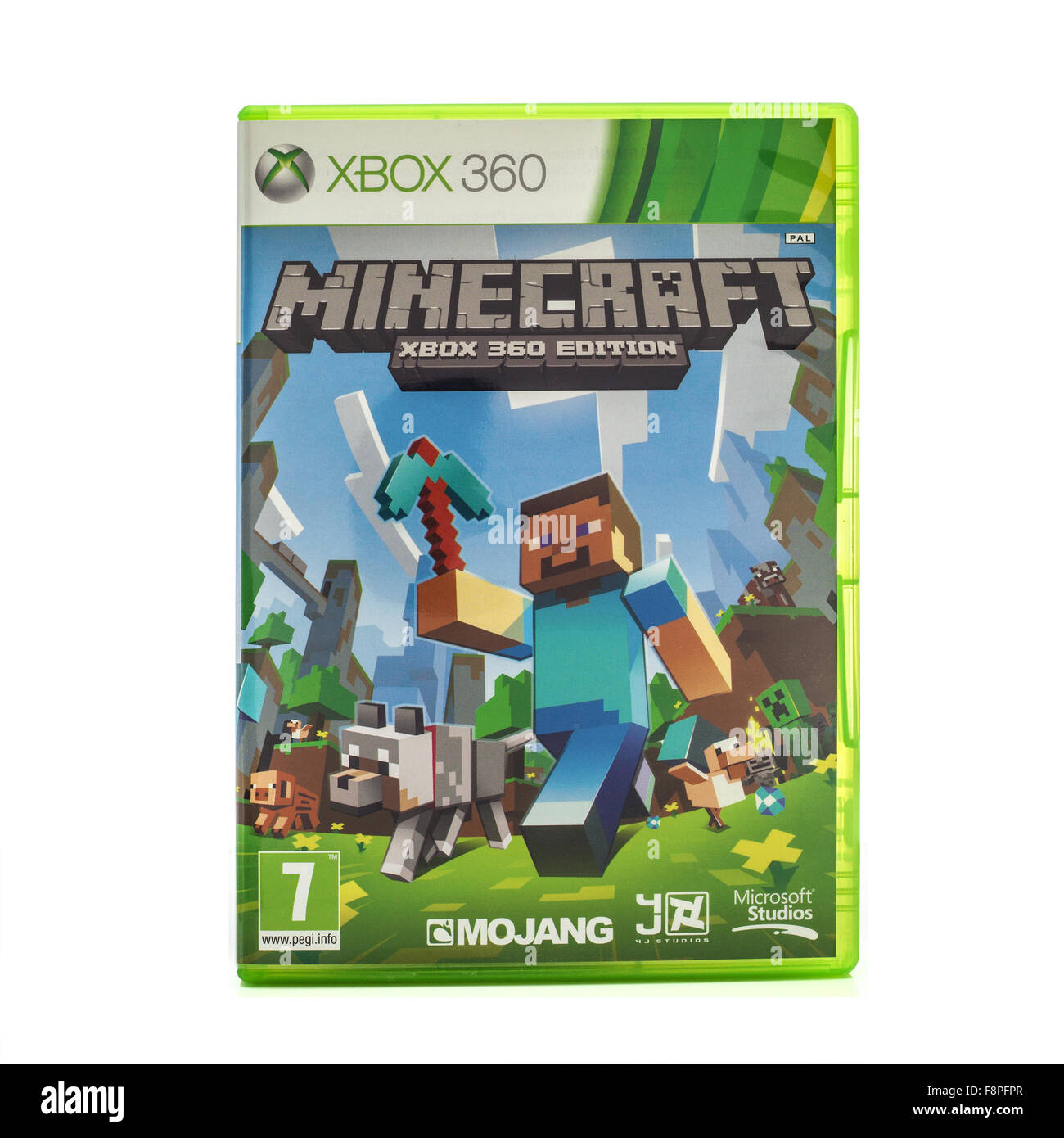 Minecraft game for the Xbox Console on a White Background - Stock Image