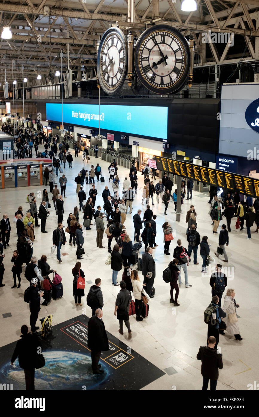 Waterloo Station,London,England-Commuters . - Stock Image