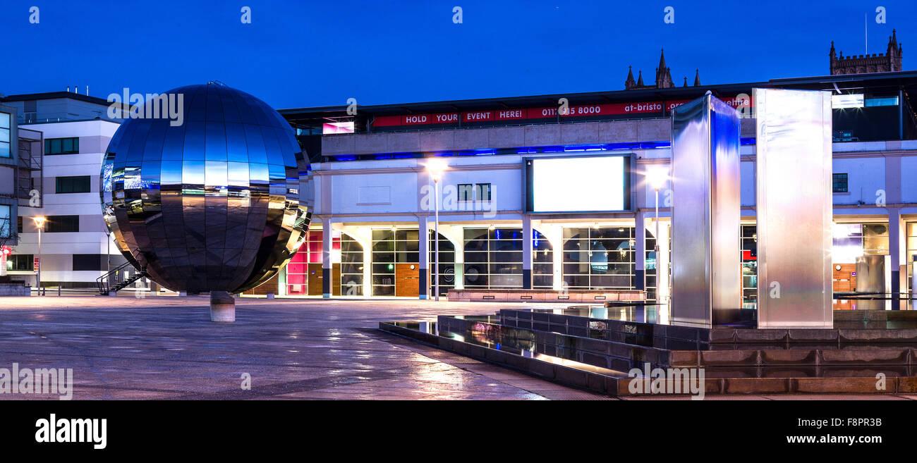 Bristol Millennium Square By Night Showing the Orangarium - Stock Image
