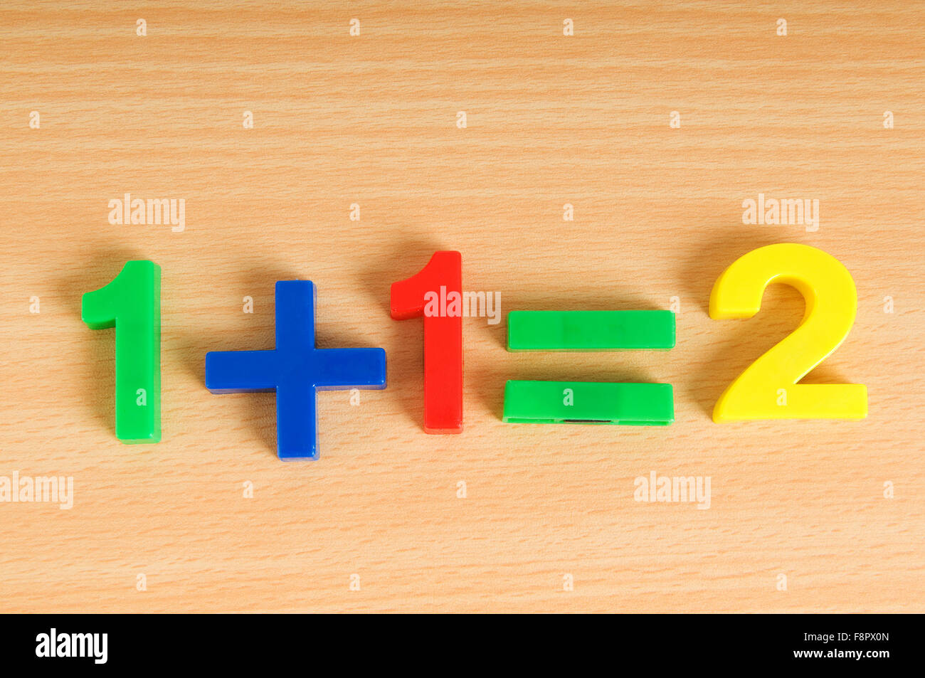 Simple math example with numbers on the table Stock Photo: 91472437 ...