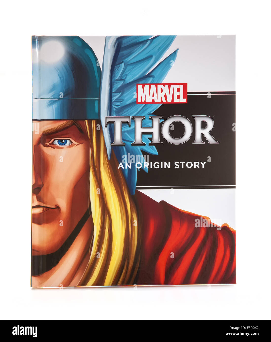 MARVEL Book THOR an Origin Super Hero Story on a White background - Stock Image